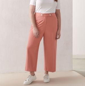 Additionelle | Wide Leg Pull-On Pant - Canyon Pink